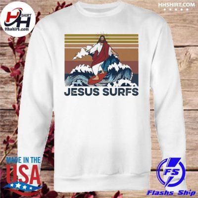 Jesus surfs vinatge s sweatshirt