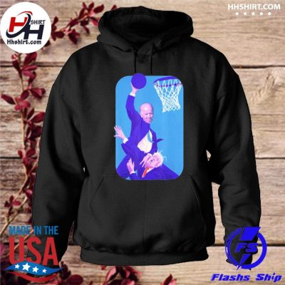 Joe Biden Vs Donald Trump playing basketball s hoodie