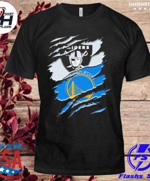Las vegas Raiders and Golden State Warriors inside me shirt