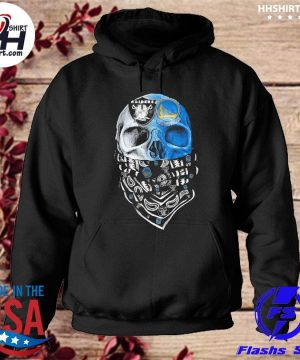 Las vegas Raiders and Golden State Warriors Skull face mask s hoodie