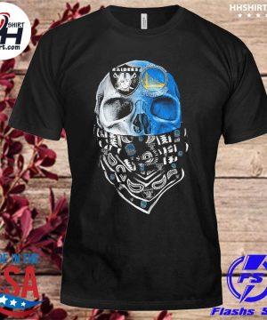 Las vegas Raiders and Golden State Warriors Skull face mask shirt