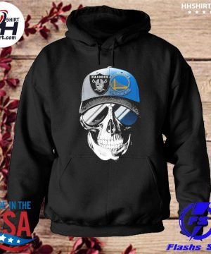 Las vegas Raiders and Golden State Warriors Skull sunglass s hoodie