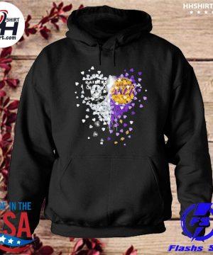 Las vegas Raiders and Los Angeles Laker Hearts s hoodie
