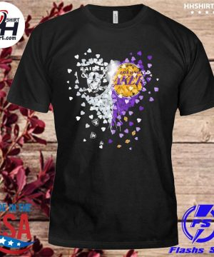 Las vegas Raiders and Los Angeles Laker Hearts shirt