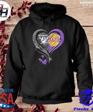 Las vegas Raiders and Los Angeles Laker Hearts t-s hoodie
