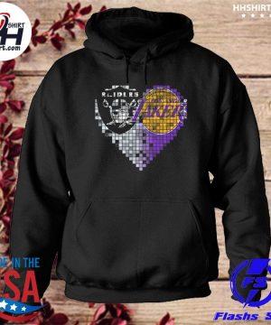 Las vegas Raiders and Los Angeles Lakers hearts s hoodie
