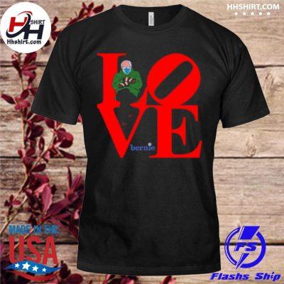 Love bernie sanders 2021 inauguration happy valentine shirt