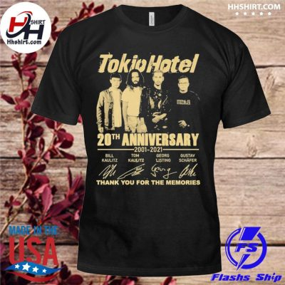 Official Tokio Hotel 20th anniversary thank you for the memories signatures shirt