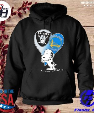 Spoony Heart Oakland Raiders and Golden State Warriors s hoodie