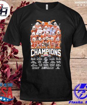 Texas Longhorns Alamo Bowl champion 2020 signatures shirt