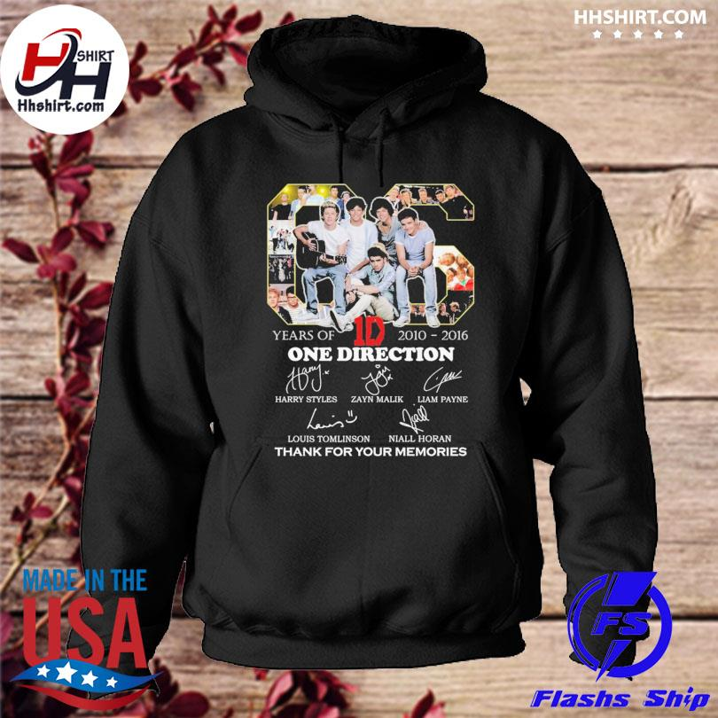 Official 06 years 1d One Direction thank you for the memories signatures s hoodie