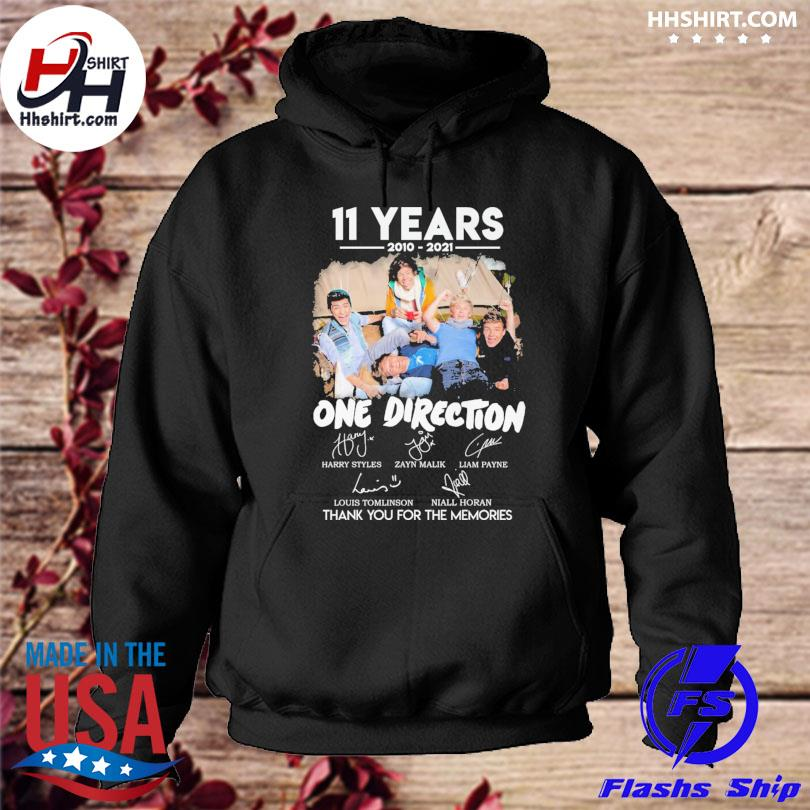 Official 11 years of One Direction thank you for the memories signatures s hoodie