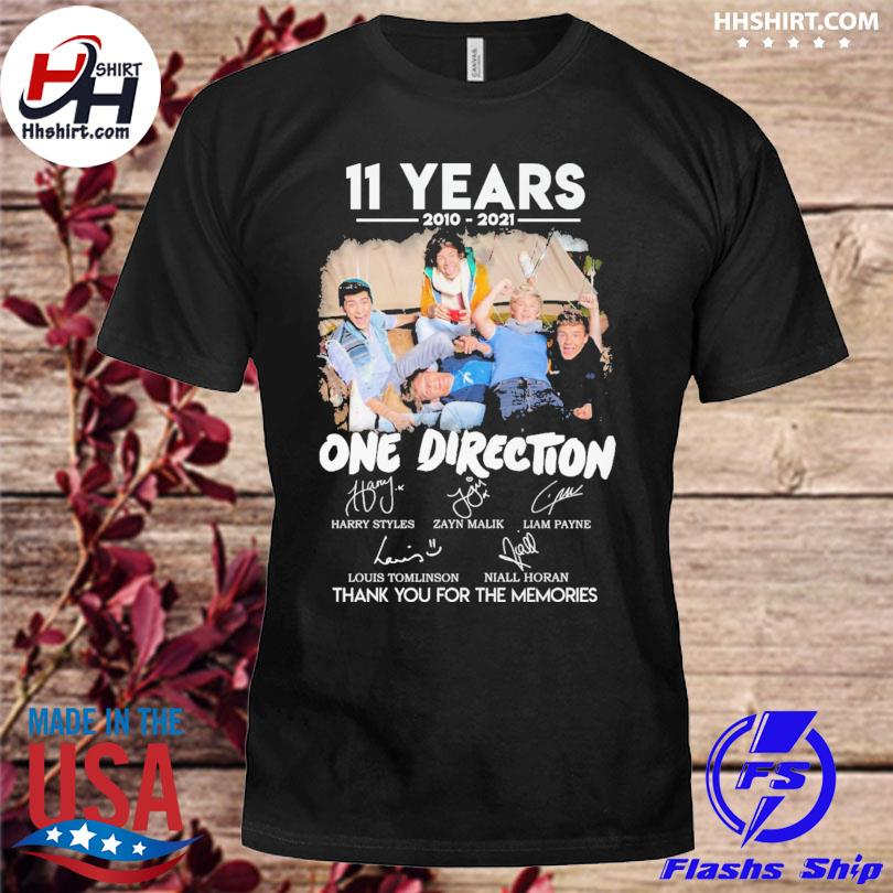 Official 11 years of One Direction thank you for the memories signatures shirt