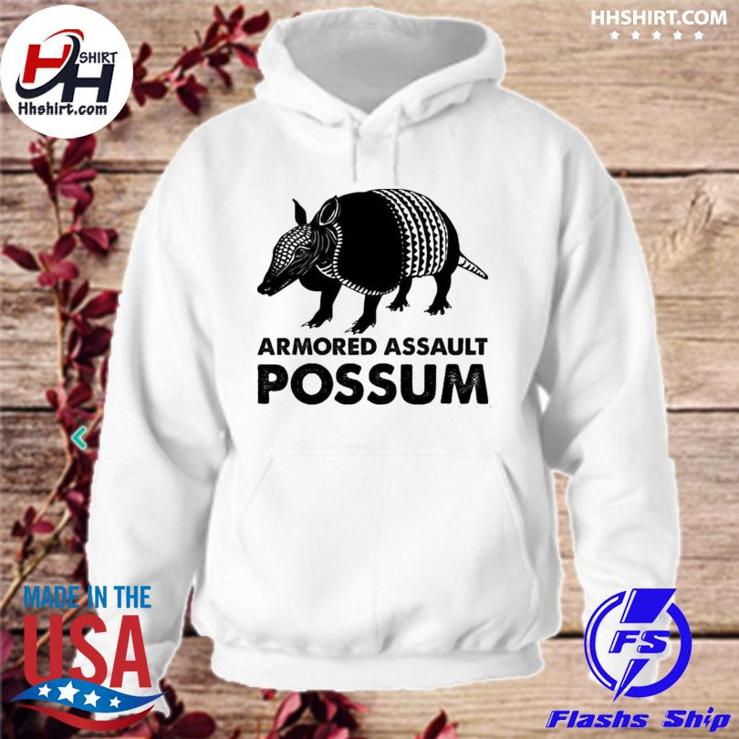 Official Armored assault possum s hoodie