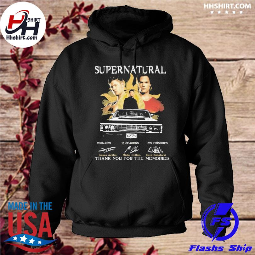 Official Supernatural 2021 signatures thank you for the memories s hoodie