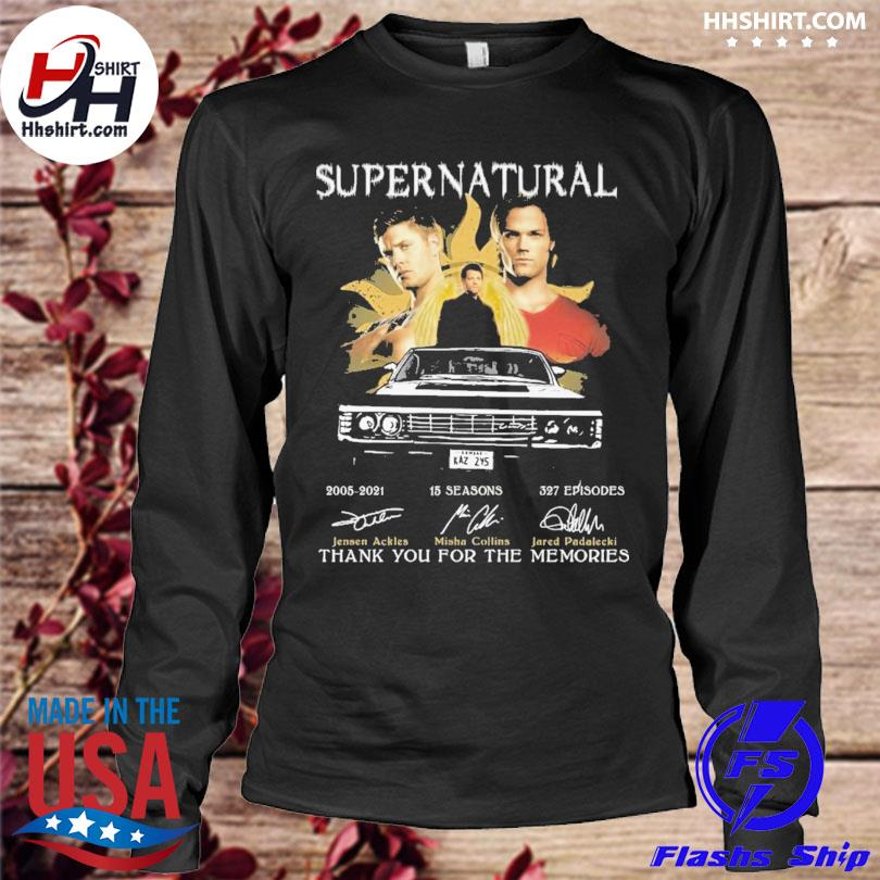 Official Supernatural 2021 signatures thank you for the memories s longleeve
