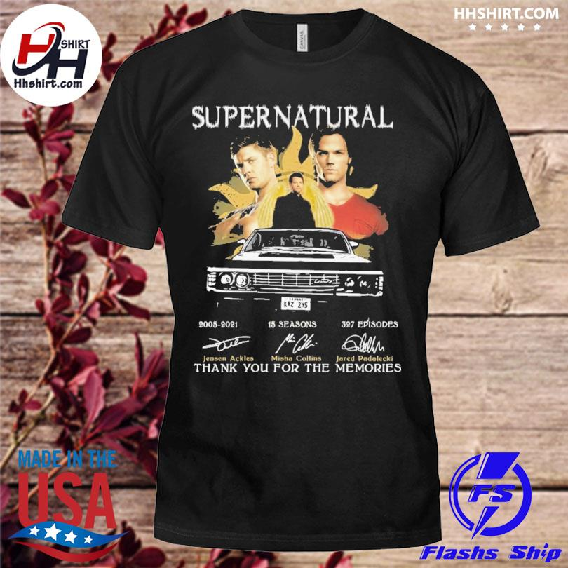 Official Supernatural 2021 signatures thank you for the memories shirt