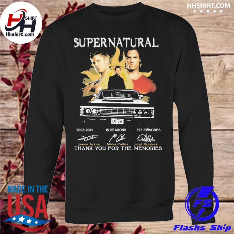 Official Supernatural 2021 signatures thank you for the memories s sweatshirt