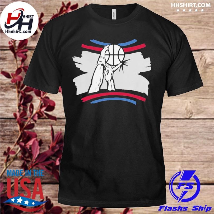 The finger block los angeles basketball 2021 shirt