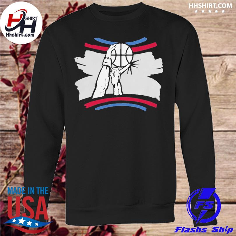 The finger block los angeles basketball 2021 s sweatshirt
