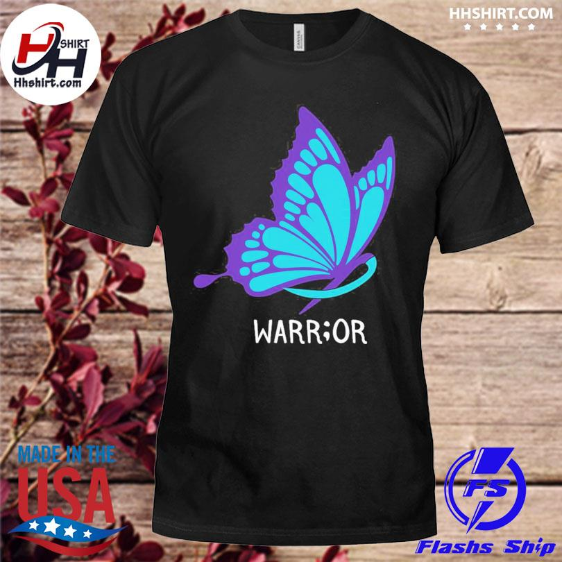 Butterfly warrior suicide awareness shirt